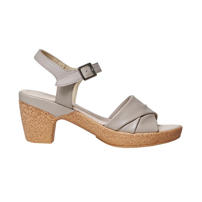 Sandale femme à talon effet naturel bata-touch-me, Gris, 664-2231 - 15