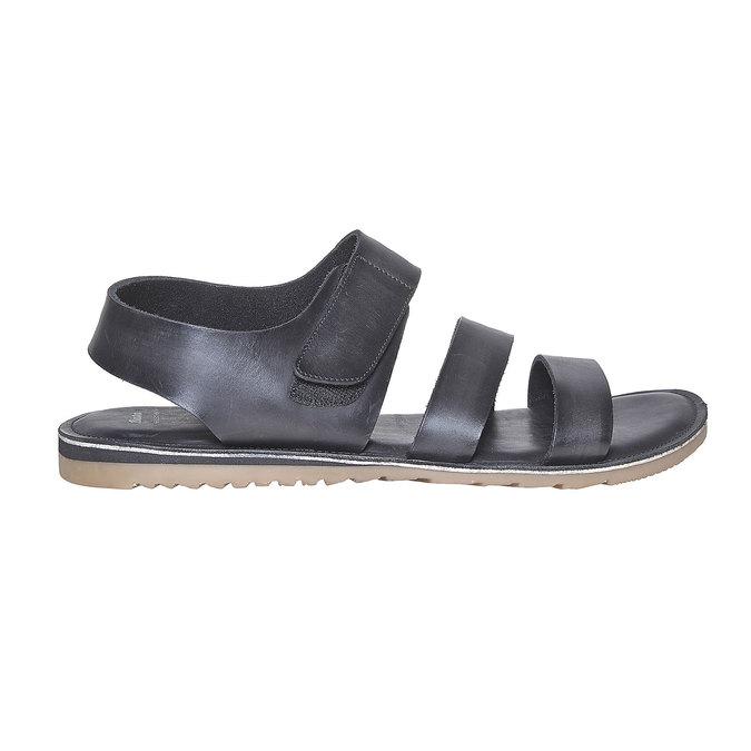 Sandale en cuir homme bata, Noir, 864-6260 - 15