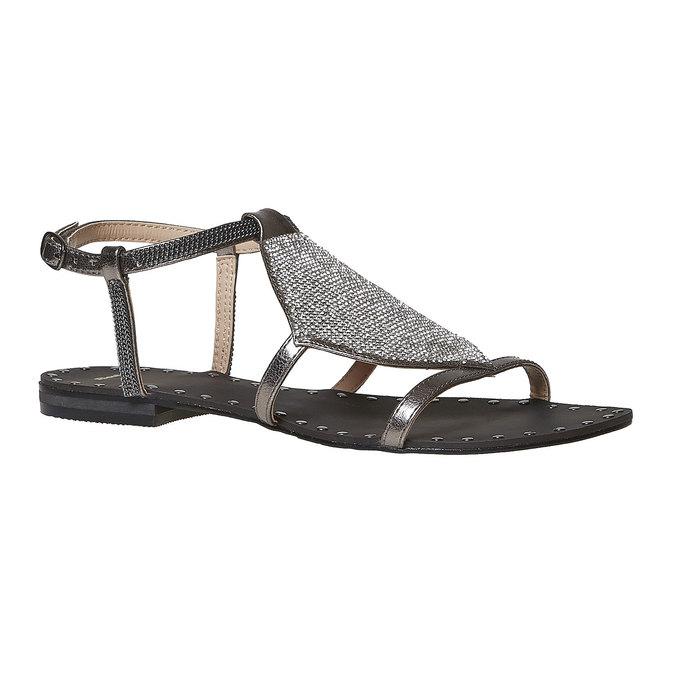 Sandale femme avec petites pierres bata, Blanc, 561-1498 - 13