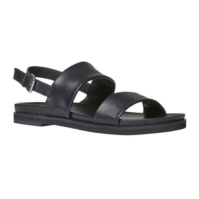 Sandale en cuir femme bata, Noir, 564-6446 - 13