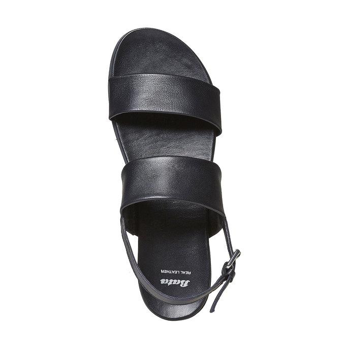 Sandale en cuir femme bata, Noir, 564-6446 - 19
