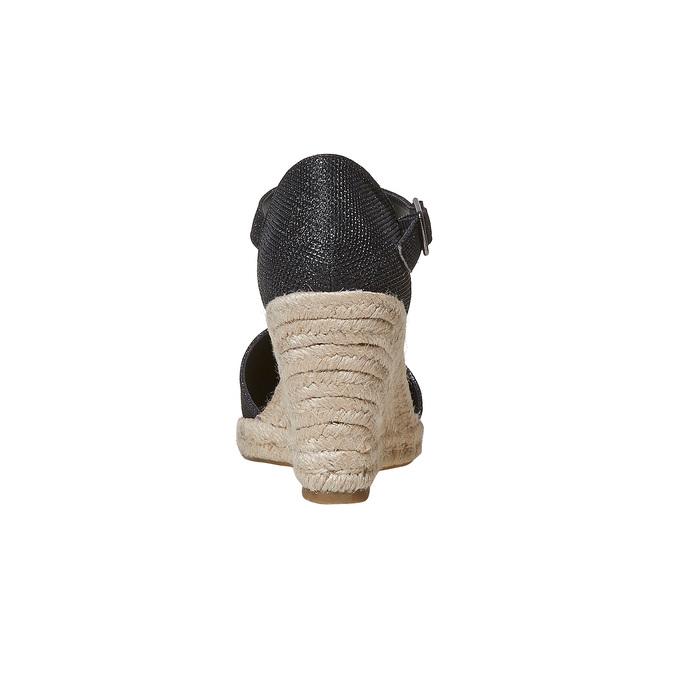 Escarpin femme à plateforme effet naturel bata, Noir, 769-6685 - 17