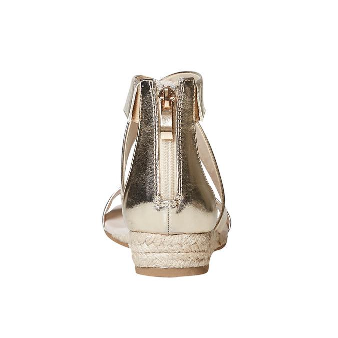 Sandale compensée femme couleur dorée bata, Jaune, 561-8505 - 17