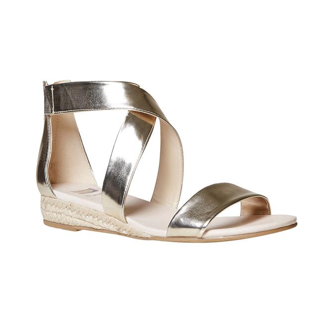 Sandale compensée femme couleur dorée bata, Jaune, 561-8505 - 13