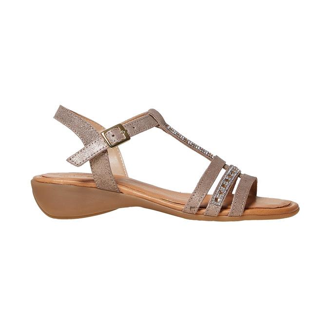 Sandale en cuir femme sundrops, Jaune, 564-8402 - 15