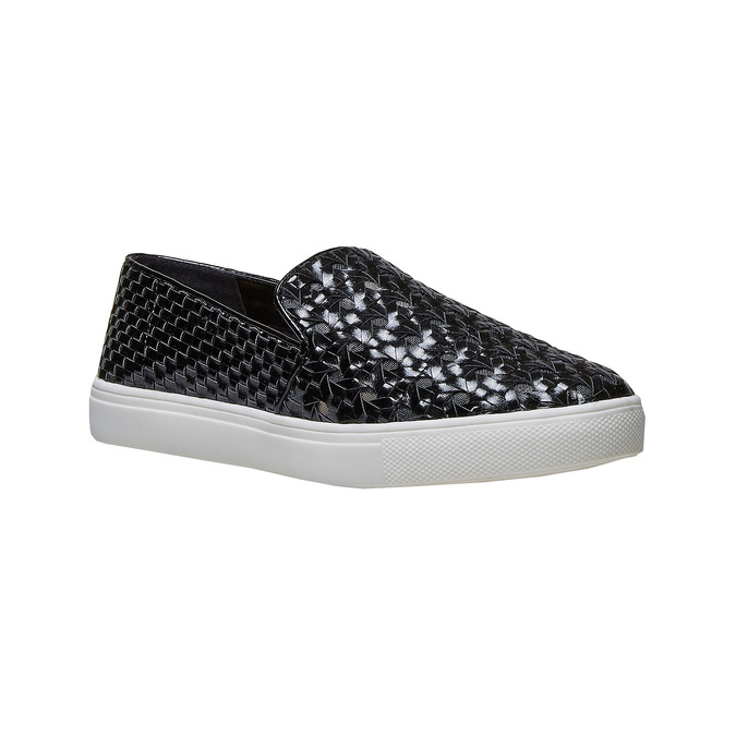 Slip-on avec motif tressé north-star, Noir, 541-6324 - 13