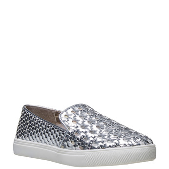 Slip-on argentée femme north-star, Blanc, 541-1324 - 13