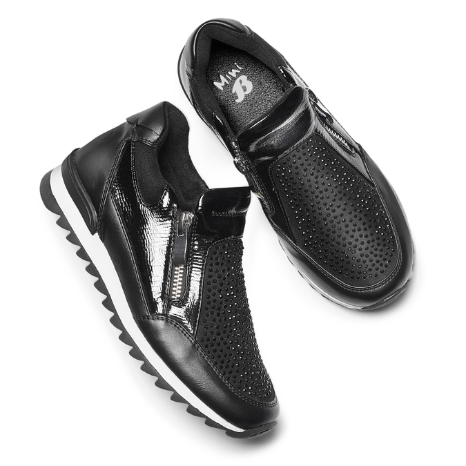 Childrens shoes mini-b, Noir, 329-6297 - 19