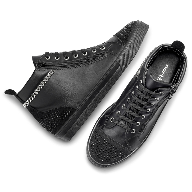 Women's shoes north-star, Noir, 541-6203 - 19