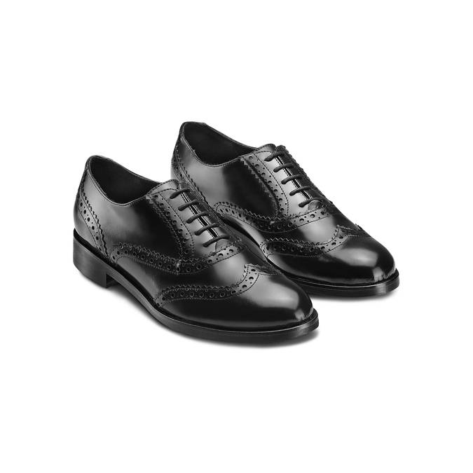 Chaussure en cuir dans le style Oxford bata, Noir, 524-6214 - 16