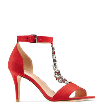 Women's shoes insolia, Rouge, 769-5154 - 13