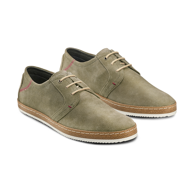Men's shoes bata, Vert, 853-7201 - 16
