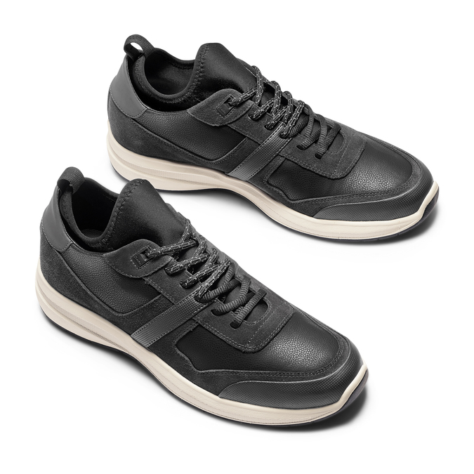 Men's shoes bata-light, Noir, 843-6418 - 26