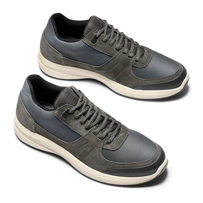 Men's shoes bata-light, Gris, 843-2418 - 26