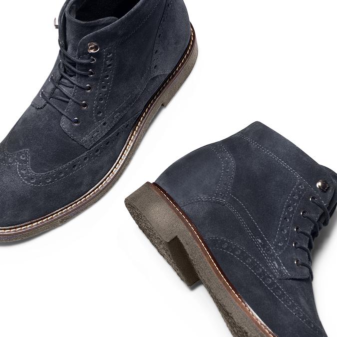 Men's shoes bata, Bleu, 823-9575 - 26