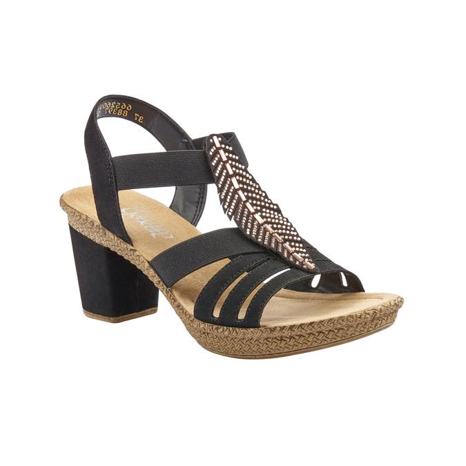 RIEKER Chaussures Femme rieker, Noir, 761-6475 - 13
