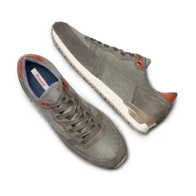 BATA Chaussures Homme bata, Gris, 849-2456 - 26