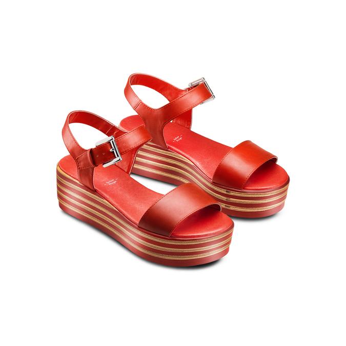 BATA Chaussures Femme bata, Rouge, 761-5670 - 16