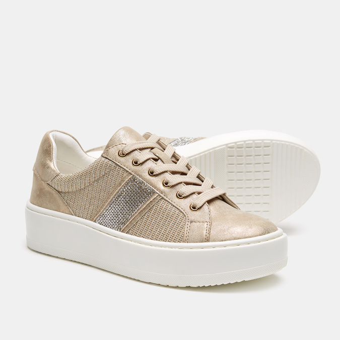 Chaussures Femme bata, Or, 549-8551 - 17