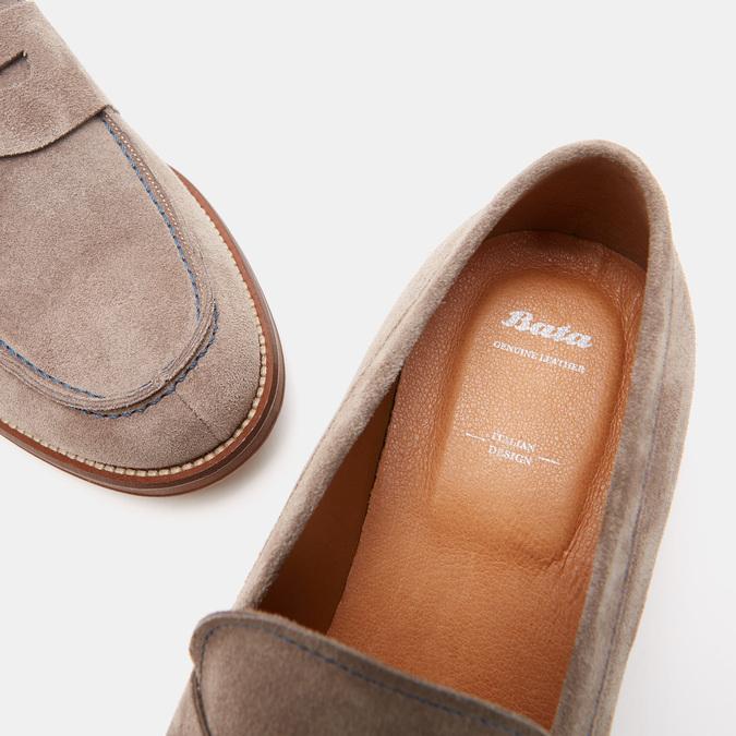 Chaussures Homme bata, Beige, 813-2118 - 19