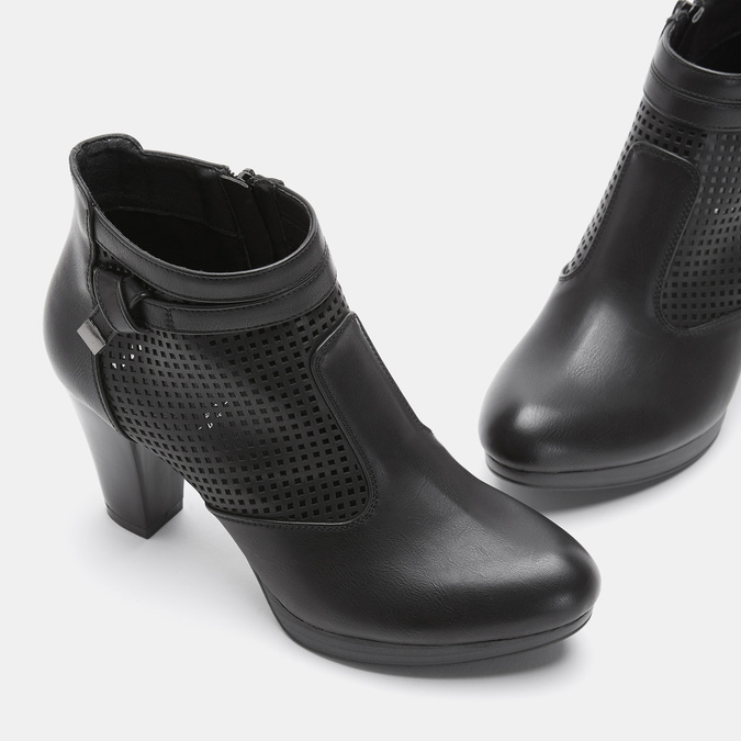 Bottines à talon bata, Noir, 791-6724 - 16