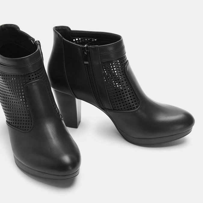 Bottines à talon bata, Noir, 791-6724 - 15