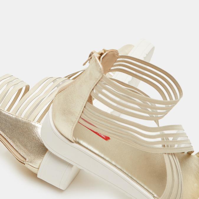 Chaussures Femme bata-rl, Or, 561-8671 - 17