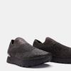 Chaussures slip-on à empeigne tricotée avec paillettes bata, Noir, 539-6143 - 15