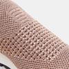 Chaussures slip-on à empeigne tricotée avec paillettes bata, Rose, 539-5143 - 26