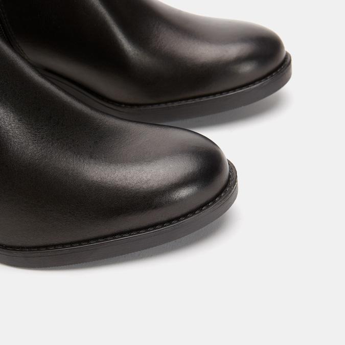 Bottes en cuir véritable sur talon large bata, Noir, 794-6429 - 17