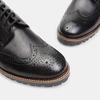 chaussures basses en cuir à surpiqûre brogue bata, Noir, 824-6133 - 15