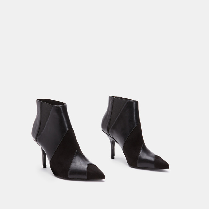 Bottines en pointe de type tronchetto bata, Noir, 791-6298 - 16