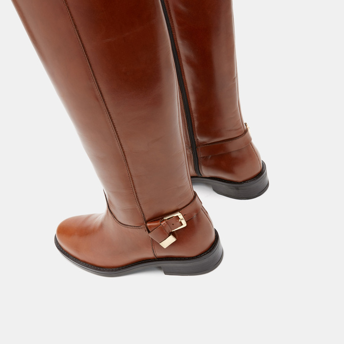 Bottes en cuir véritable bata, Brun, 594-3308 - 17