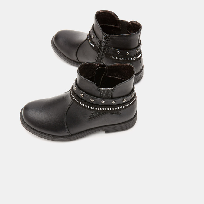 BOTTINES ENFANT mini-b, Noir, 291-6206 - 15