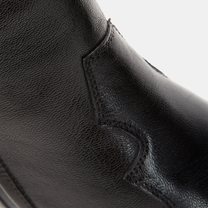 Bottes de style Texas en cuir véritable bata, Noir, 794-6585 - 26