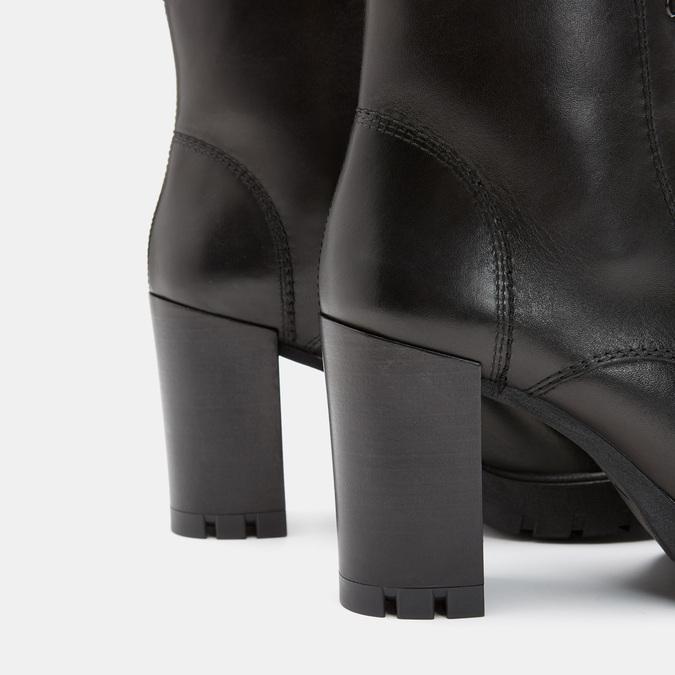 Bottines en cuir bata, Noir, 694-6494 - 15