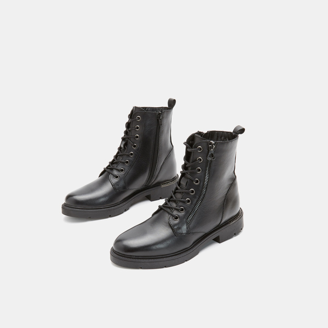 Bottines en cuir bata, Noir, 594-6383 - 16
