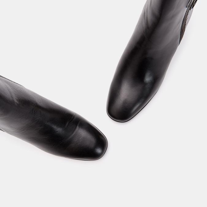 Bottines en cuir de type tronchetto avec motif de crocodile bata, Noir, 794-6790 - 17