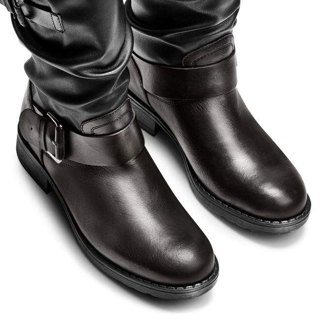 Bottes en cuir bata, Noir, 694-6548 - 17