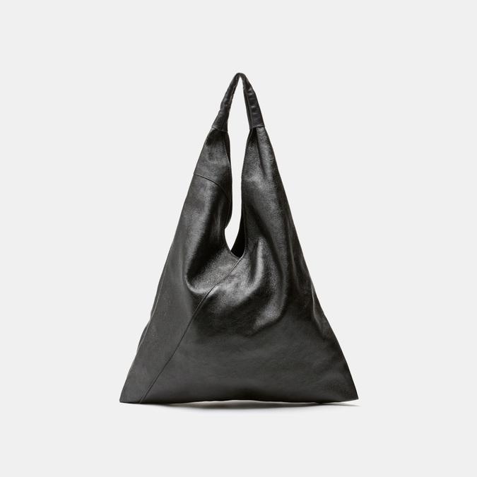 Sac  hobo en cuir bata, Noir, 964-6355 - 13