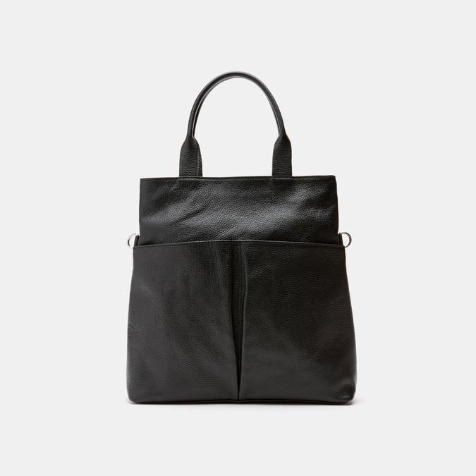 Cabas en cuir bata, Noir, 964-6338 - 13