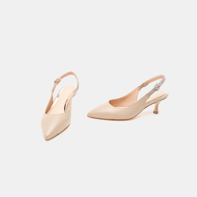 Sandales à bout pointu et talon ouvert bata, Rouge, 624-5243 - 16