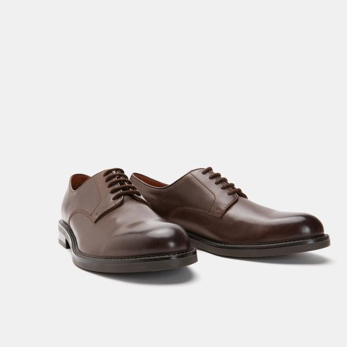 chaussures basses en cuir homme bata, Brun, 824-4264 - 16