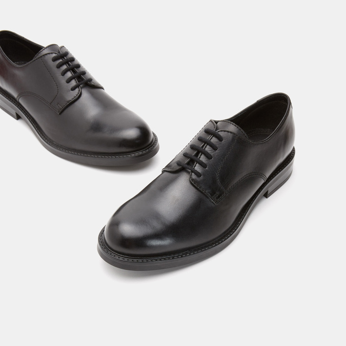 chaussures basses en cuir homme bata, Noir, 824-6264 - 17