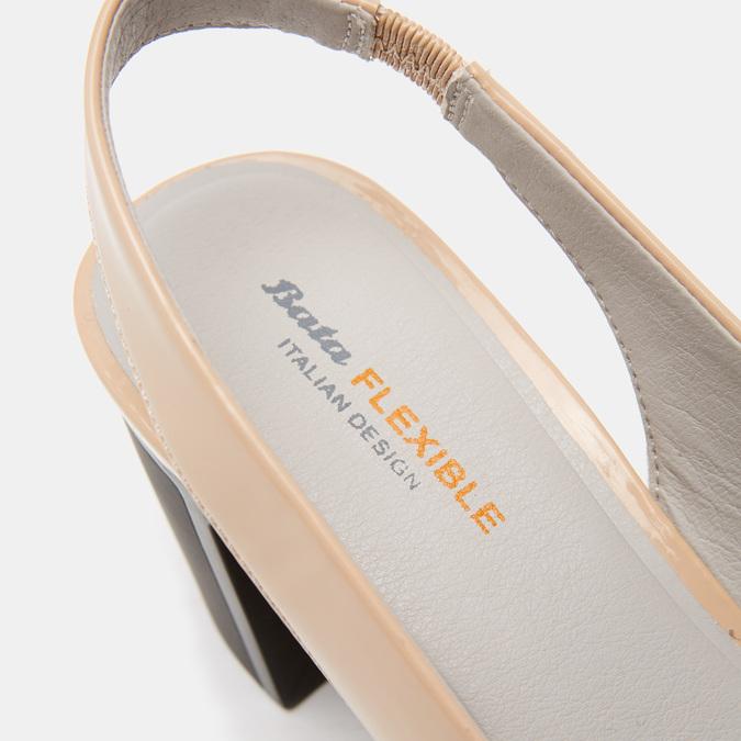 Sandales à talons ouverts et bout arrondi flexible, Rouge, 621-5241 - 26