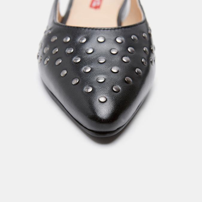 Ballerines en cuir et à talons ouverts bata, Noir, 524-6533 - 26