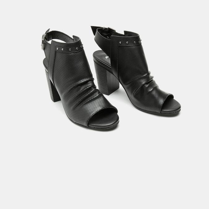 Sandales à dessus perforé bata, Noir, 761-6267 - 16