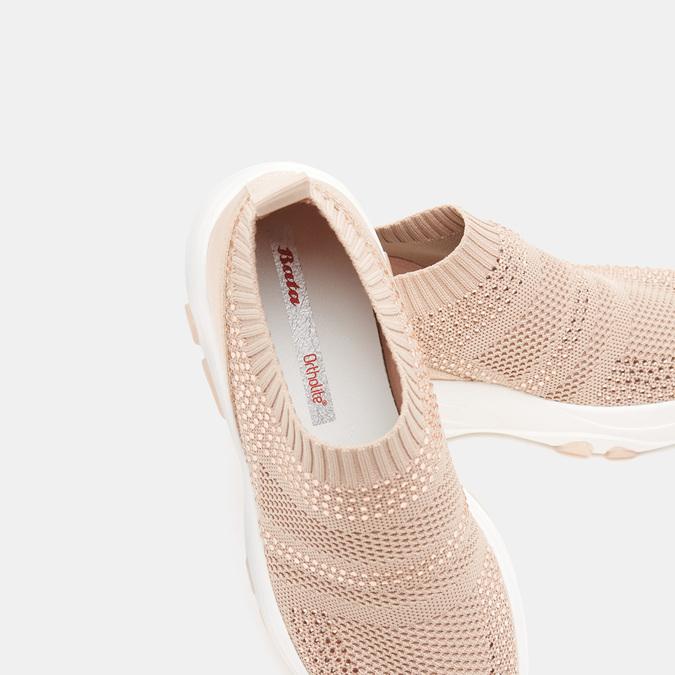 Baskets Knit femme bata, Rouge, 539-5184 - 16