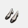 Sandales à talon ouvert et bout arrondi flexible, Noir, 624-6241 - 16