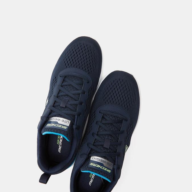 Tennis homme skechers, Bleu, 809-9281 - 19